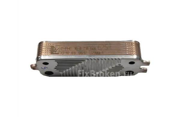 Пластинчатый теплообменник ГВС для Buderus Logamax U072-24/24K WBN6000 24C (87176446250) Buderus Logamax вид с боку