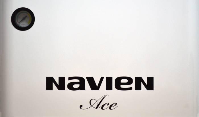 Фото основной панели котла Navien