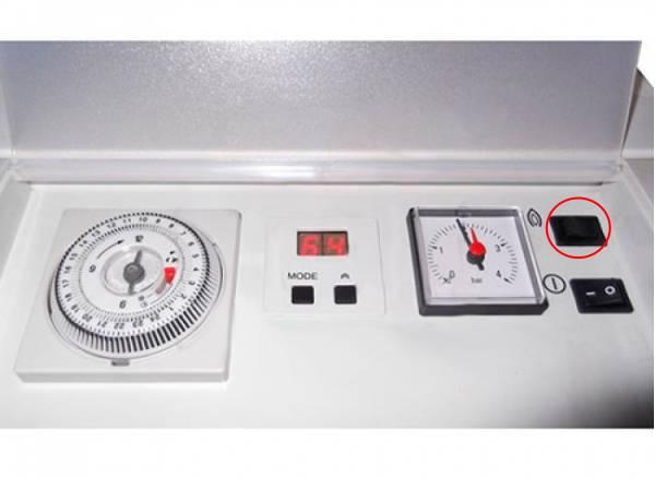 Подробная панель управления котлом Protherm KLOM