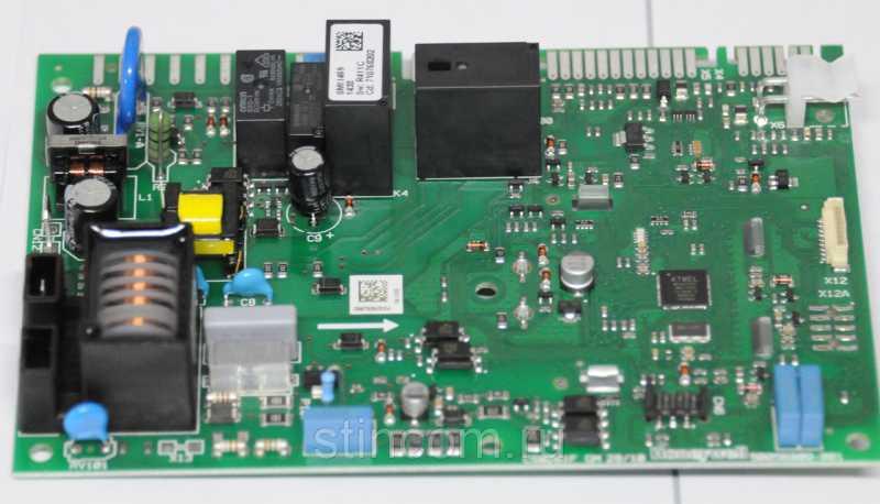 Плата управления котлом Бакси. Электронная плата PCB SM11469 с дисплеем для котлов Baxi Main Four, Eco