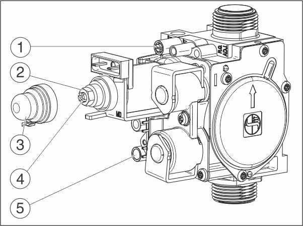 Схема газового клапана котла Buderus
