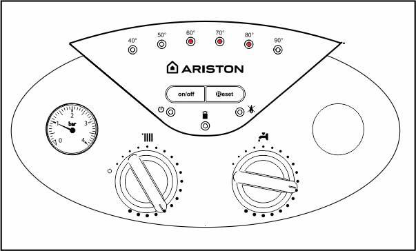 Панель управления котлом Ariston bs 24