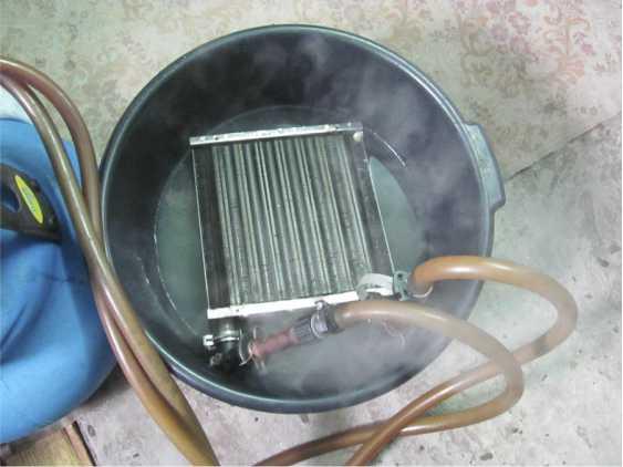 Фото промывки основного теплообменника