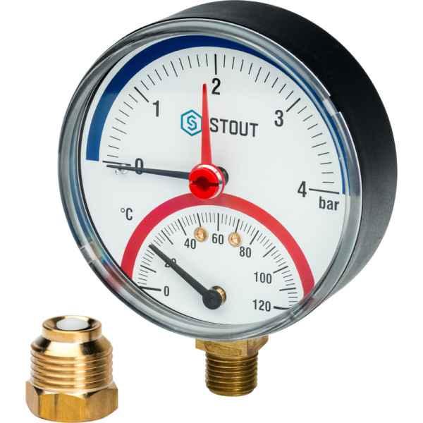 Термоманометр показывает 2 бара в системе отопления