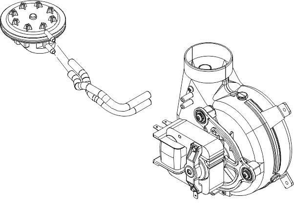 Реле давления, импульсная трубка, вентилятор котла Viessman