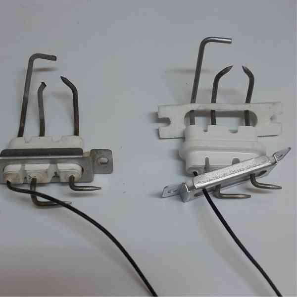 Электрод розжига котла использованный и новый Navien