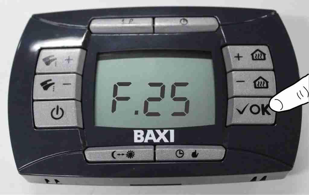 Как перезагрузить котел Baxi LUNA 3 comfort кнопка reset