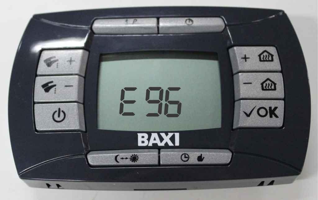 Ошибка 96 на панели управления котлом Baxi