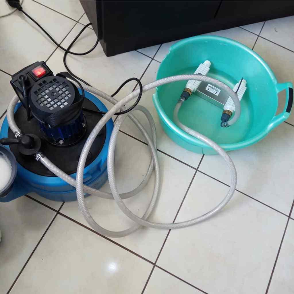 Промывка вторичного теплообменника газового настенного котла Ariston