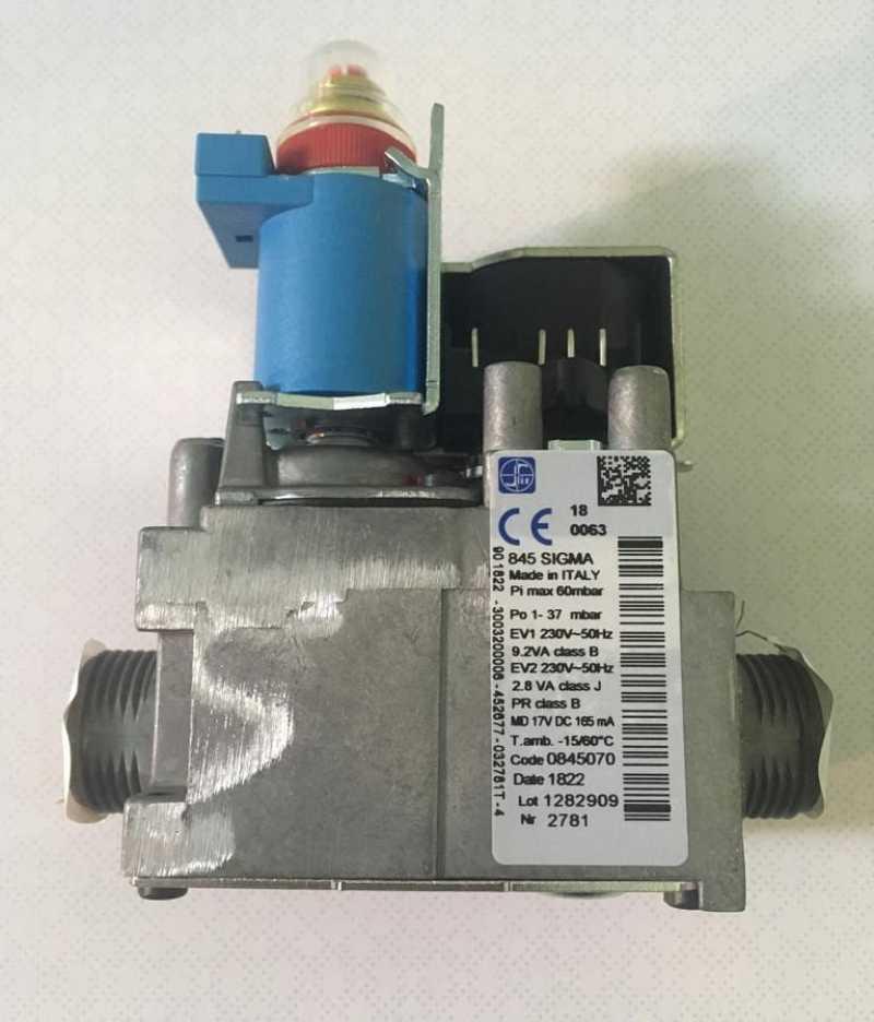 Газовый клапан Sigma 845 для котла Ariston