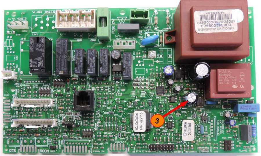 Плата управления котлом Ariston замена конденсатором