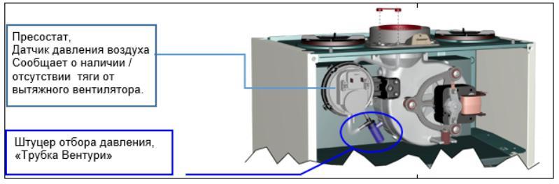 РАсположение датчика давления воздуха Аристон