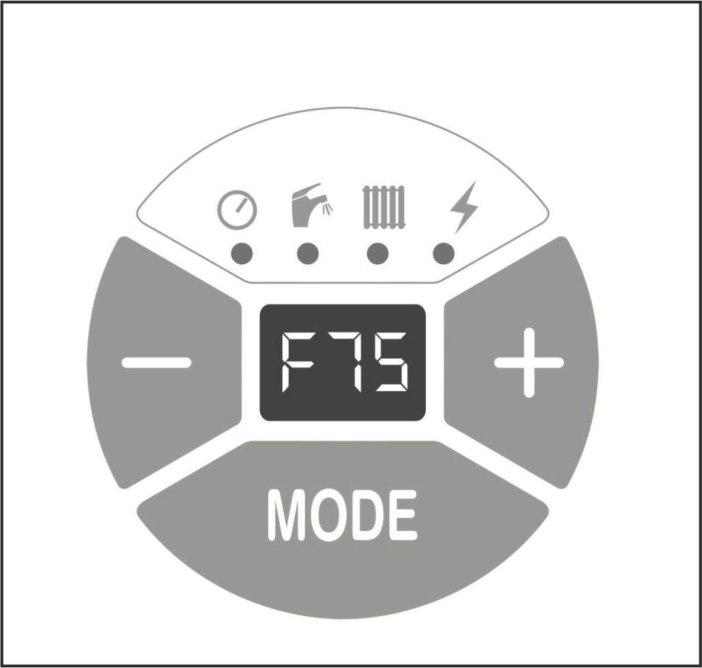 Ошибка F75 на панели управления котлом Protherm