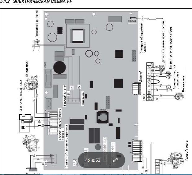 Электронная схема котла Аристон FF