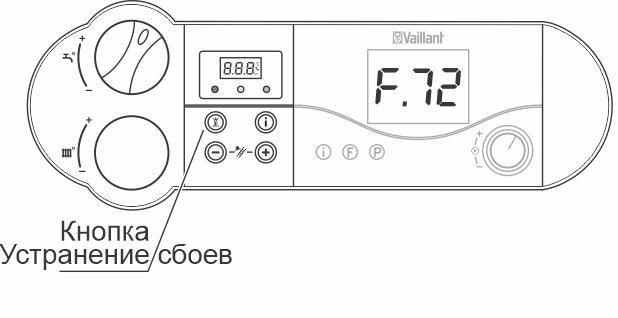 Кнопка для сброса ошибки F32 для котлов atmoTEC pro, turboTEC pro