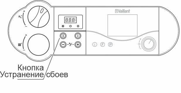 Кнопка для сброса ошибки F33 для котлов atmoTEC pro, turboTEC pro