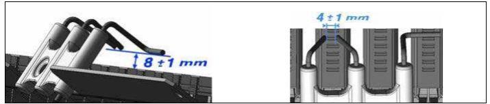 Правильное расположение электродов розжига в котле Ariston
