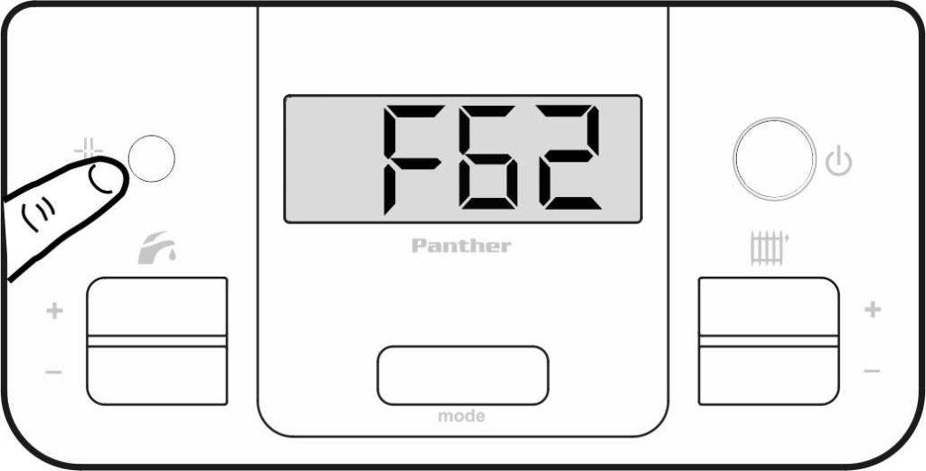 Устранение ошибки F62 на панели управления котлом Protherm