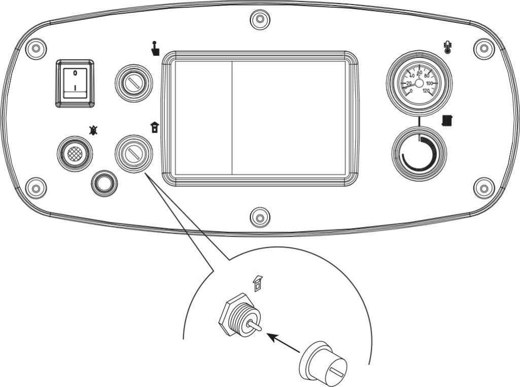 Для того, чтобы запустить вновь котел Baxi Slim HPS, необходимо отвинтить крышку и нажать на находящуюся под ней кнопку