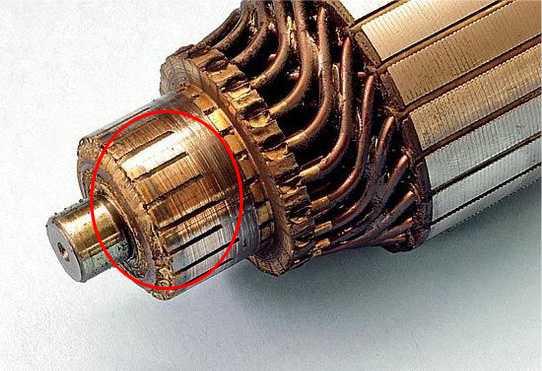 Проверьте коллектор двигателя стиральной машины Indesit