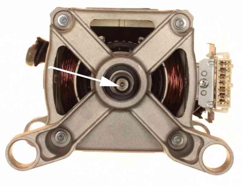 Расположение датчика на валу мотора стиральной машины Indesit