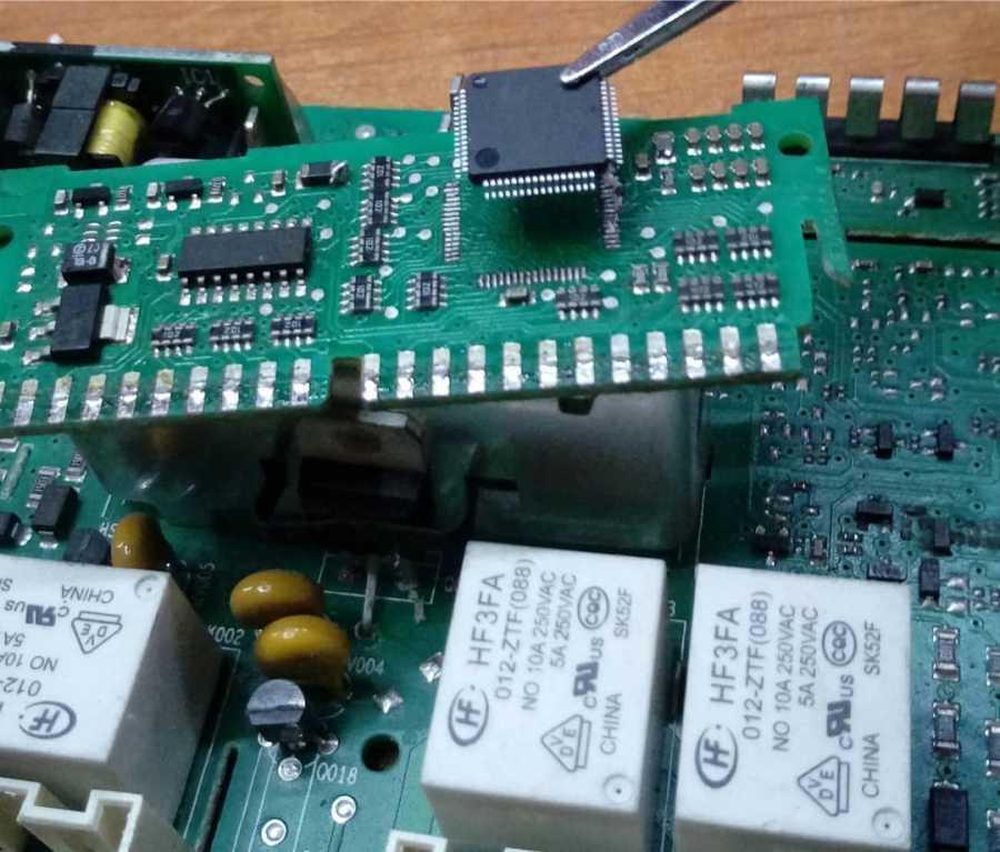 Замена процессора стиральной машины Indesit