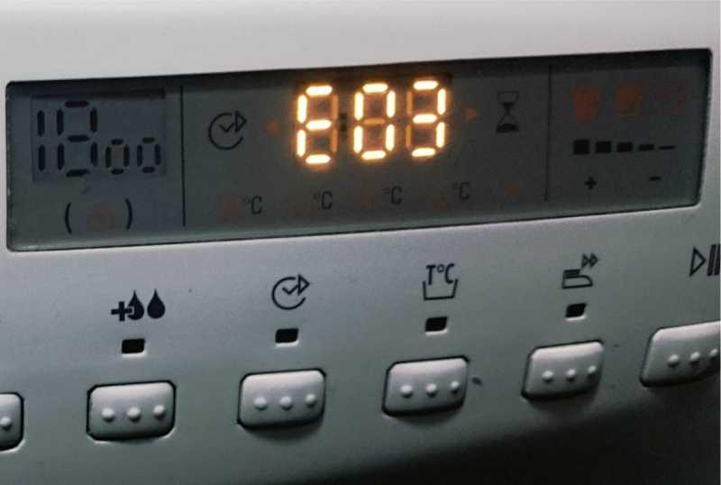 Ошибка 03 стиральной машины Candy