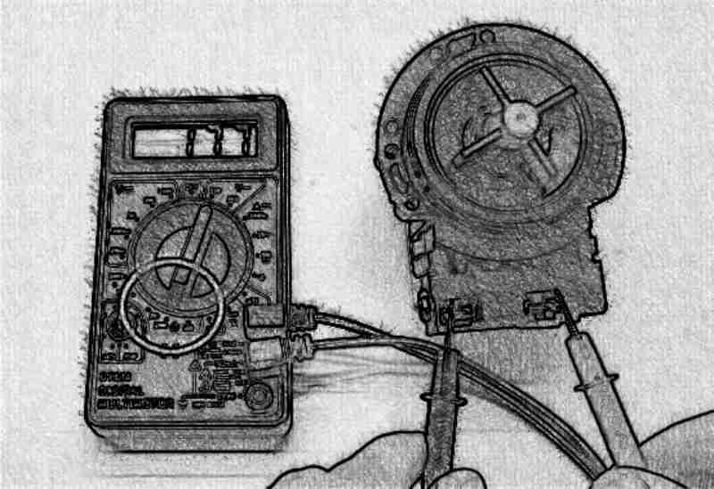 Проверка мультиметром насоса стиральной машины Bosch