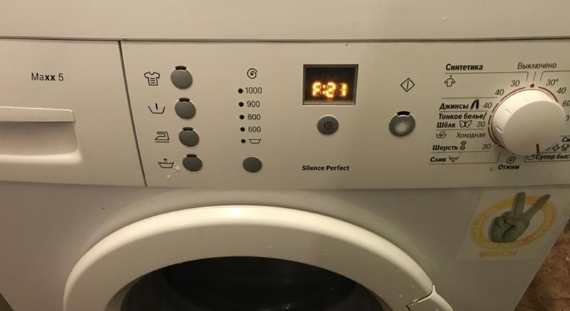 Отображение ошибки F21 в стиральной машине бош