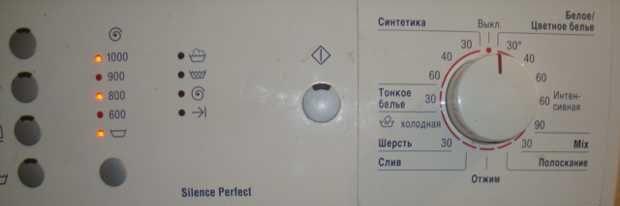 Индикаторное отображение ошибки F21 стиральной машины БОШ
